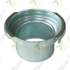 Steel T38.BKE motorcycle filler neck passage diameter 38 mm to be directly sealed in plastic or fiberglass gas tank