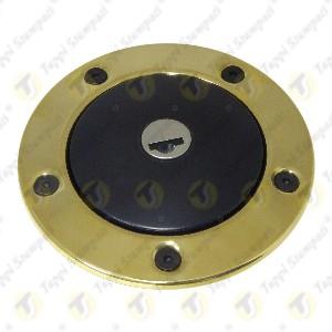 Tappo benzina nero per serbatoio moto 240.2V7.BKE con chiave e bocchettone con flangia ottone passaggio 40mm