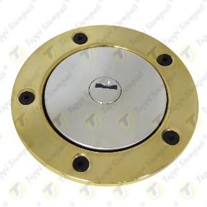 Tappo benzina per serbatoio moto 240.2V7.BKE con chiave e bocchettone con flangia ottone passaggio 40mm