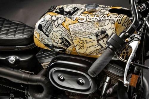Tappo per serbatoio moto Harley Davidson cafe racer G2.BKE