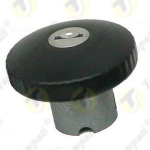 Tappo serbatoio per moto TED.BKE acciaio nero con chiave innesto a baionetta diametro di passaggio 30 mm